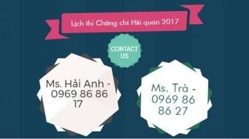 [THÔNG BÁO] – Danh sách thí sinh đủ điều kiện dự thi cấp Chứng chỉ Nghiệp vụ Khai Hải Quan năm 2017- khu vực miền Bắc