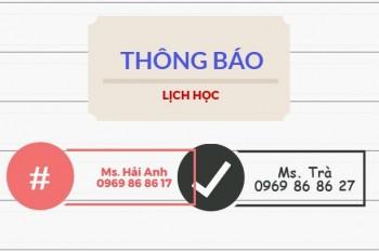 Lịch học lớp Khai Hải Quan Điện Tử Khóa K34 tại Hà Nội