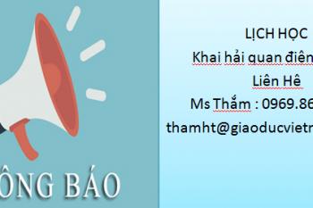Lịch Học : Lớp Khai Hải Quan Điện Tử K36 Tại Hà Nội