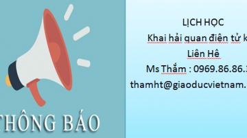 [THÔNG BÁO] – Khai Giảng Khóa K36 – Khai Hải Quan Điện Tử tại Hà Nội