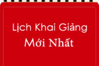 Lịch học lớp khai hải quan khóa K51 Hà Nội
