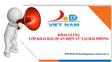 Lịch học lớp khai báo hải quan khóa k54 Hà Nội